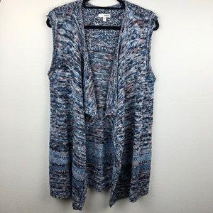 SONOMA Open Front Sleeveless Drape Cardigan Women'